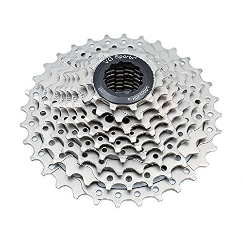 9 Índice de Velocidad 11-32T Cassette Freewheel-MTB Pieza de Bicicleta de Plata Rueda Dentada, Adecuada para la Rueda Libre de Bicicleta Shimano/Cassette