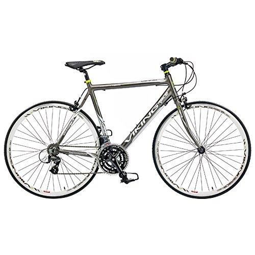 VIKING Herren Triest 700C Flat Bar Road Bike, Grau, 53cm