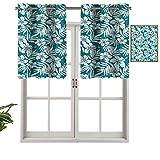 Panel de cortina de bloqueo UV, diseño de hibisco exótico, plátano, juego de 1, 106,7 x 45,7 cm para habitación de niños
