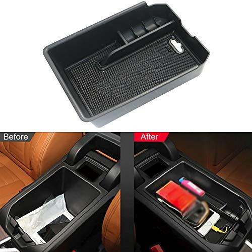Caja de almacenamiento para consola central de coche, compatible con X3 G01 X4 G02 2018 2019, accesorios para el coche, interior de guantera, reposabrazos organizador, soporte automático