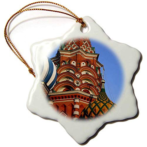 3dRose Russia, Moscow. St Basils Cathedral in Red Square - EU26 KWI0022. - Ornaments (ORN_138747_1)