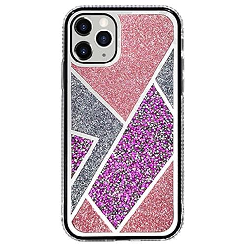 NZAUA Caja del teléfono móvil, Brillo [Diamante DE Rhinestone DE Cristal] Soft TPU Silicona de Goma [Borde de Placa] Adecuado para Estuche a Prueba de Golpes para iPhone 1 iPhone 6 Plus