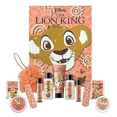 Disney The Lion King - Calendario de Adviento (12 días de baño y cuerpo, diseño de El Rey León)