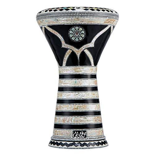 Die Pearl Shards Darbuka von Gawharet El Fan (World Percussion) – Arabische Darbouka-Trommel/Doumbek/Darabuka/Durbaka/Darbka mit weißem Kopf/Fell von Malik