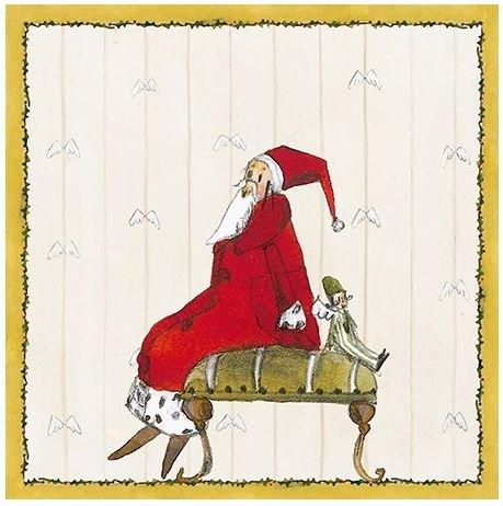 Serviette Weihnachtsmann