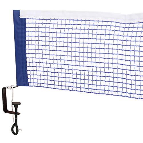 Red de Mesa de Tenis con Soporte de fijación, Mesa de Tenis portátil de poliéster Simple Accesorios de Recambio Deportivos de Red de Ping Pong(Azul)