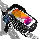 HIKENTURE Bolsa para cuadro de bicicleta impermeable, bolsa para teléfono móvil, soporte para teléfono móvil, bicicleta de montaña, bolsa para cuadro superior de bicicleta, bicicleta