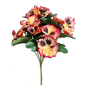 Silk Flower Arrangements Ximkee Artificial Pansy Flowers for Home Office Decoration