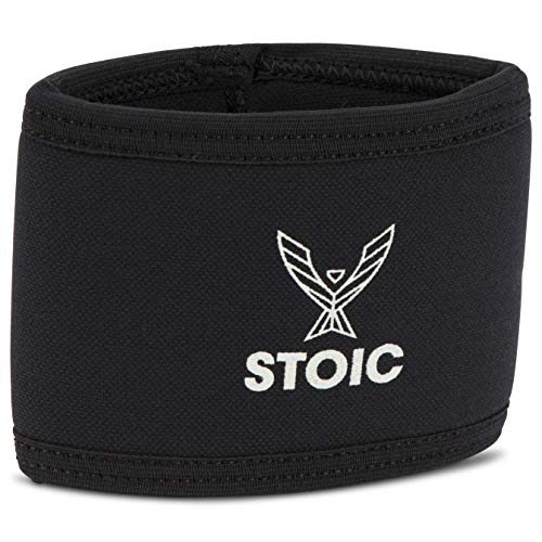 Stoic 7MM Compression Sleeve Cuff (Heavy Neoprene Construction) For arm, elbow, lower leg compression and warmth while weight lifting, powerlifting, bench pressing (10 Inch, Black)