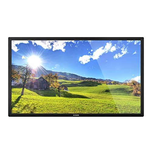 KUVASONG True 1500 Nits 55 Inches Sun Readable Smart Outdoor TV for Outdoor Covered Area, High Brightness Outdoor Television, 4K UHD HDR, RJ45, WiFi, ATSC+NTSC Tuner, External Soundbar