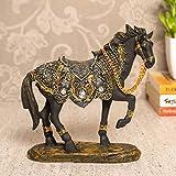 TIED RIBBONS Estatua de caballo escultura animal estatua manualidades adorno adorno manualidades regalos para escritorio escritorio escritorio hogar oficina estantería