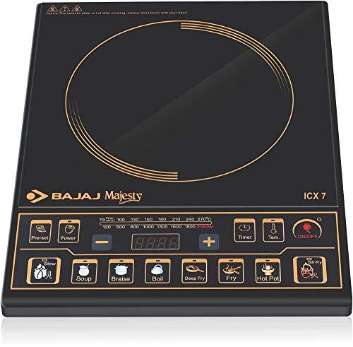 Bajaj Majesty ICX 7 1900-Watt Induction Cooktop (Black)