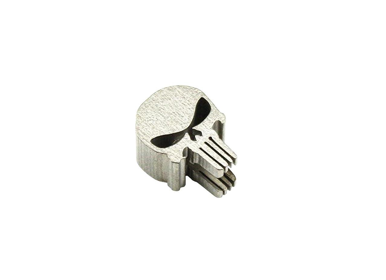 AIBER Titanium Skull Punisher Shape Knife Lanyard EDC Zipper Charm Pull Paracord Necklace Bead Pendant Hole Diameter 0.24 Inch (Skull shape)