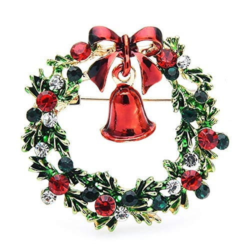 LDGR Broches Bell Brooches Mujeres Hombres Flores Navidad Broche Pines
