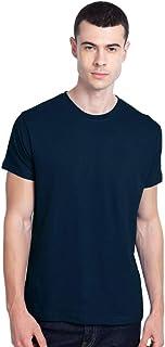 Bewakoof Men's Cotton Solid Apricot Half Sleeves | Round Neck | Regular Fit T-Shirt/Tee