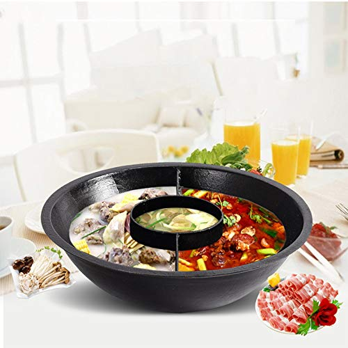 DGdolph 30Cm Easy Clean Stainless Steel Hot Pot Shabu Dual Site Induction Cooking Pot Silver