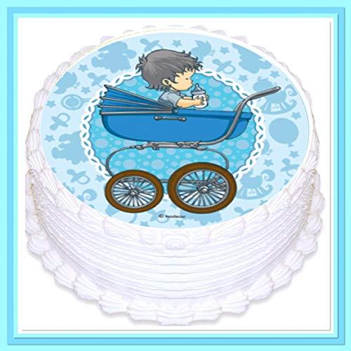 Unbekannt Modecor zuccheriera – Decorazione per Torta per Compleanno/Battesimo.