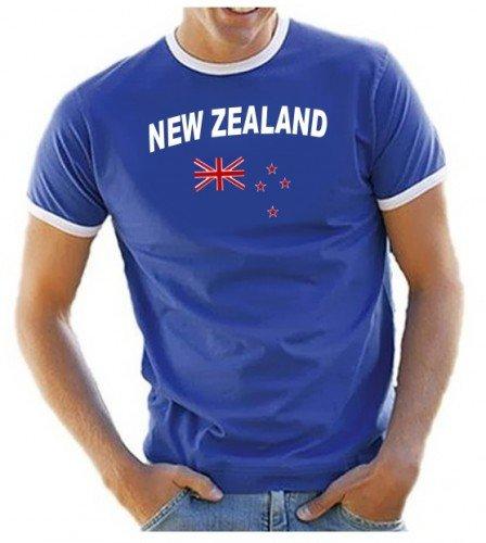 NEW ZEALAND - NEUSEELAND Fußball T-Shirt royalblau_ringer Gr.XXL