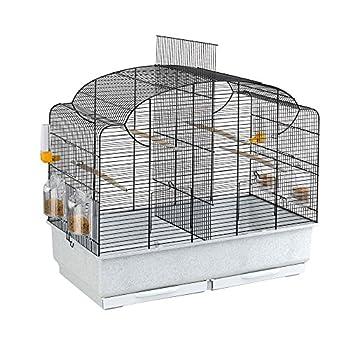 Ferplast Cage pour Canaris et Oiseaux Exotiques CANTO, Petite Cage de Reproduction avec Séparation et Accessoires