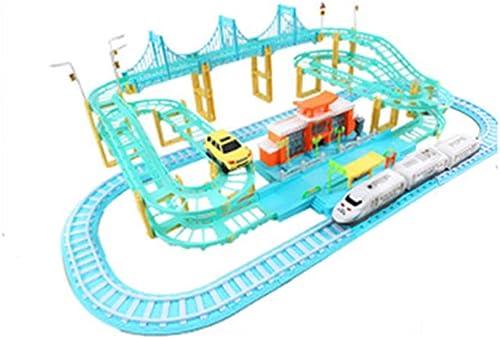 LINGLING-Verfolgen Kinder Orbital Express Command Station Spielzeugauto Blau Electric Slide 3 Jahre Alter Junge Geschenk (Farbe   A)