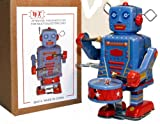 Little Drummer Robot Tin Toy Windup