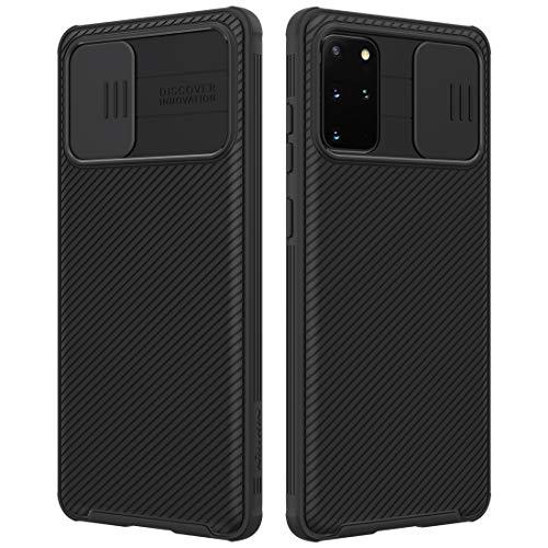 NILLKIN Funda Samsung Galaxy S20+/S20+ 5G, [Protección de la cámara] Estuche híbrido Parachoques Premium no voluminoso Delgado Funda rígida para PC para Samsung Galaxy S20+/S20+ 5G(6.7'') Negro