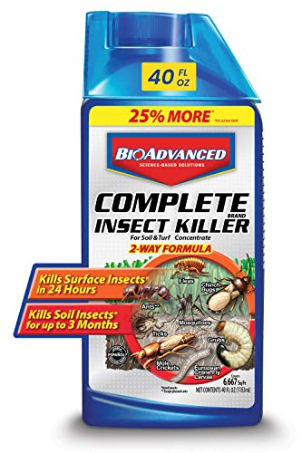 BioAdvanced 700270B Science-Based Solutions Grub, Ant & Mosquito Killer for Lawns, Pest Control, 40 oz, Concentrate