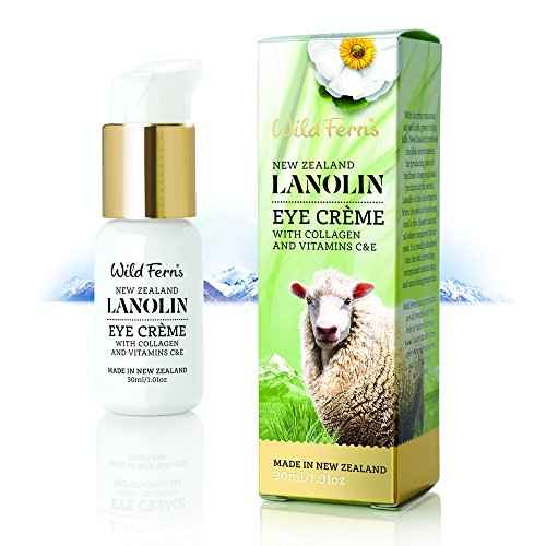 Wild Ferns Lanolin Eye Creme With Collagen And Vitamin C & E 30ml