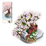 WWEI Árbol de cerezo japonés Bonsai de 426 piezas de bonsái artificial para mesa, casa, balcón, oficina, decoración, no compatible con Lego 10281