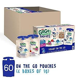 GoGo squeeZ yogurtZ, Variety Pack (Blueberry/Berry), 3 Ounce (60 Pouches), Low Fat Yogurt, Gluten Free, Pantry-friendly, Recloseable, BPA Free Pouches #5