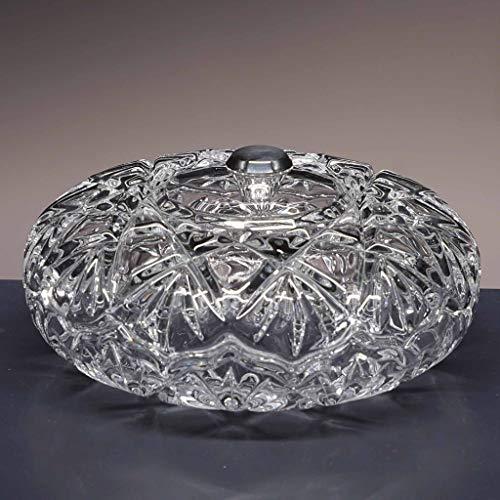 la galaica | Bombonera de Cristal - para Caramelos o Dulces - Colección 3555 - pomo en Plata de Ley 925-16,5x16,5x8 cm. Decoracion