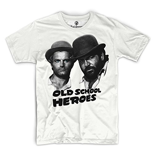 Bud Spencer - Old School Heroes - T-Shirt (XL), Weiß