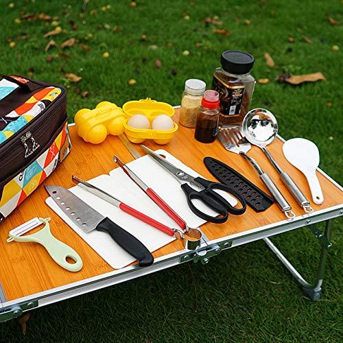 キャンプ調理器具セットバーベキュー3~5人BBQセットキャンプアウトドア11点セットキッチンツールクッキングツールアウトドアクッキング用ツール(新しいパターン)