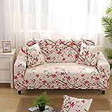 WXQY Fundas de celosía geométrica Funda de sofá elástica Funda de sofá de protección para Mascotas Funda de sofá con Esquina en Forma de L Funda de sofá Todo Incluido A30 4 plazas