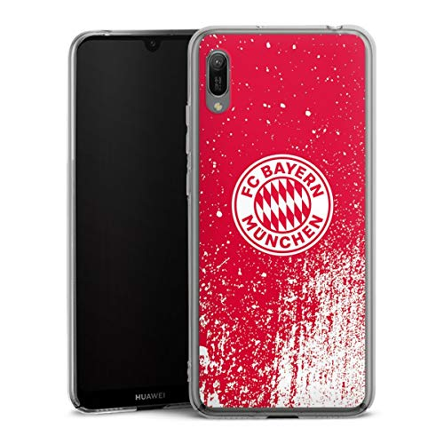 DeinDesign Hard Case kompatibel mit Huawei Y6 (2019) Schutzhülle transparent Smartphone Backcover FC Bayern München Offizielles Lizenzprodukt FCB
