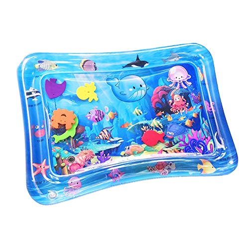 Sale!! soAR9opeoF SoFull Baby Water Play Mat Toys,Kid Baby Inflatable Cartoon Underwater World Dinos...