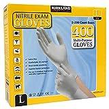Kirkland Signature lkWDCx Nitrile Exam Multi-Purpose Large Gloves Latex-free, 400 Count
