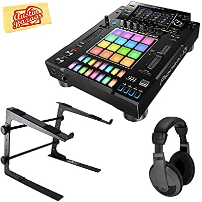 Pioneer DJS-1000 Standalone DJ Sampler Bundle with Stand, Headphones, and Austin Bazaar Polishing Cloth from Pioneer