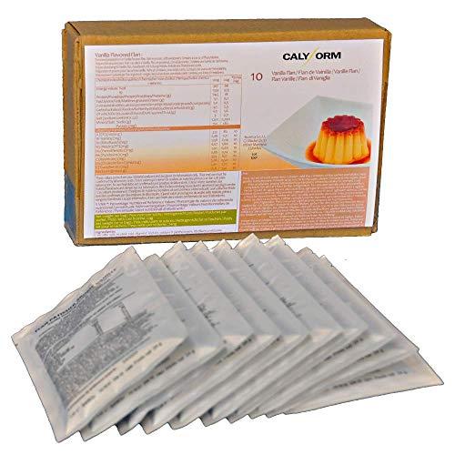 CALYFORM Flan Proteico para dieta sabor Vainilla saciante | Proteína en polvo para preparar flanes | Dieta proteica de calidad y aporte en aminoácidos esenciales (10 sobres) 🔥