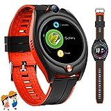 4G Orologio Smartwatch Bambini,GPS Orologio Telefono Bambini Bambina con GPS Wifi SOS Video Gioco 1.28'' Musica Sveglia Pedometro Regali di compleanno 6-15 anni (Rosso)