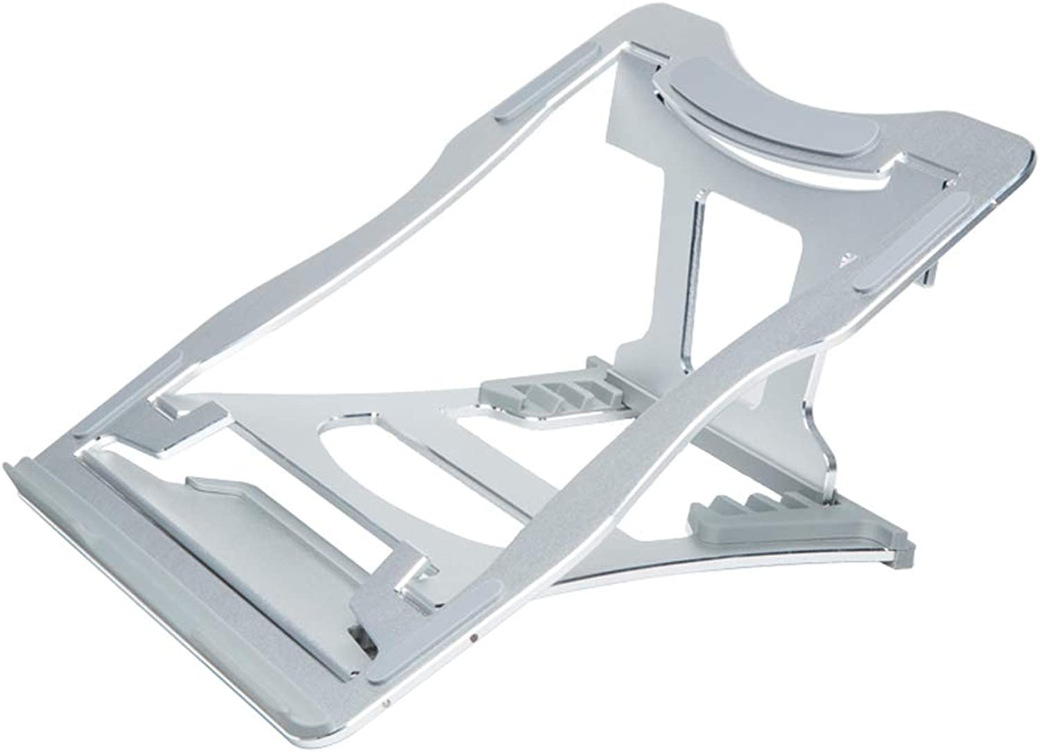 Laptop Stand - Aluminum Silicone, 6-Speed Height, 3 Open Ways, Simple Portable Foldable Lifting and Cooling Predection Cervical Spine Silicone Anti-Skid Heightening Frame - 3 colors Available