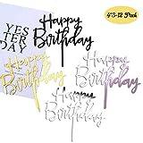 Coriver 12 Pack Happy Birthday Cake Topper, Topper Cupcake Glitter Acrilico per Decorazion...
