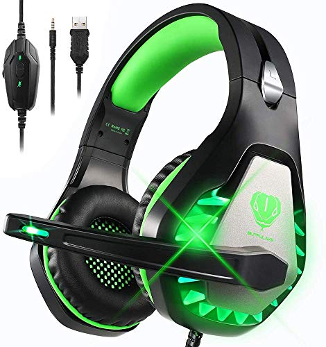 Auriculares Gaming para PS4 Xbox One Nintendo Switch Laptop PC, DIWUER Cascos...