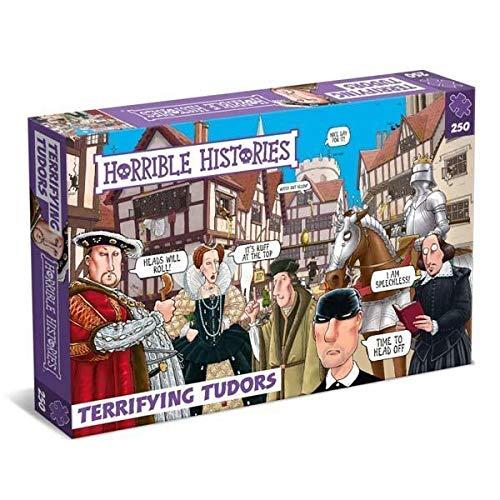 All Jigsaw Puzzles-Horrible Histories Terrible Tudors 250 Piezas Puzzle de Paul Lamond Games, Color Morado 7265