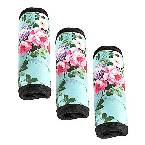 3 Pcs a Set, Comfort Neoprene Handle Wraps/Grip/Identifier for Travel Bag Luggage Suitcase Baby Carriage