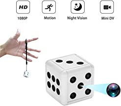 Dice Mini Hidden Spy Camera, 1080P Portable Wireless Nanny Cam with Night Vision and Motion Detection, Covert Security Camera for Home and Office
