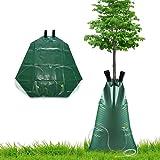 Viilich Bewässerungssack Wassersack Einstellbar,PVC Baumbeutel Baumsack Bewässerung Baumbewässerungssack Automatische Bewässerungsbeutel,Tröpfchenbewässerungsbausätze für Bäume Garten,75L