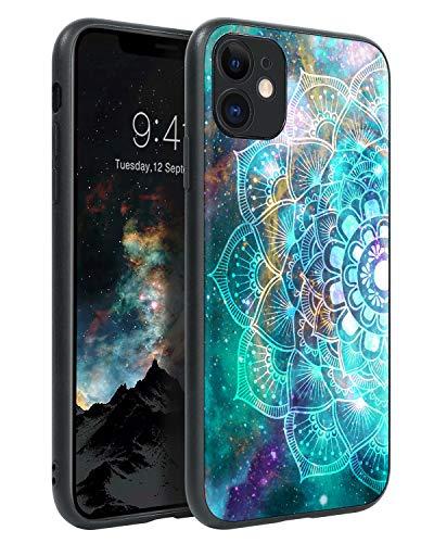 BENTOBEN iPhone 11 Hülle Handyhülle iPhone 11 Hülle Slim leicht dünn Mandala Nebula Pattern Muster PC Schale mit TPU Bumper Kratzfest Schutzhülle Hülle für iPhone 11 6.1 Zoll