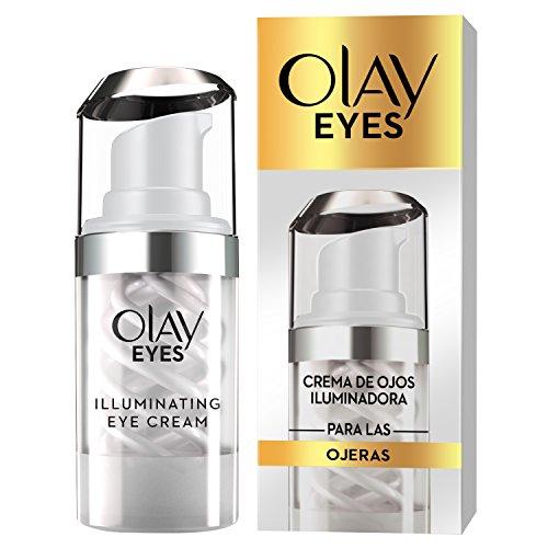 Olay Eyes Brightening Eye Cream, Crema contorno de ojos para manchas con niacinamida y cafeína, 15 ml