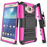 Samsung Galaxy On5 Case, On 5 Case, TILL [Knight Armor] Heavy Duty Rugged Holster Resilient Armor [Belt Swivel Clip][Kickstand] Combo Case Cover Shell for Samsung Galaxy On5 G550 [Hot Pink]